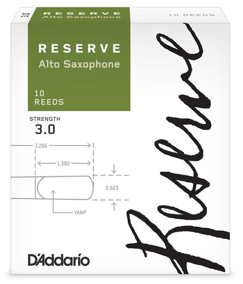 D'Addario Rico Reserve - Alto Saxophone Reeds - Box of 10