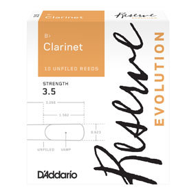 D'Addario Evolution Bb Clarinet Reeds