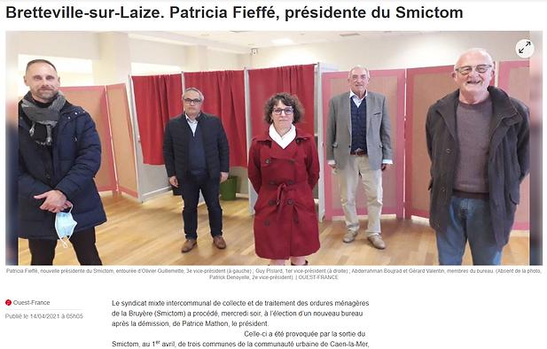 Patricia Fieffe présidente du smictom
