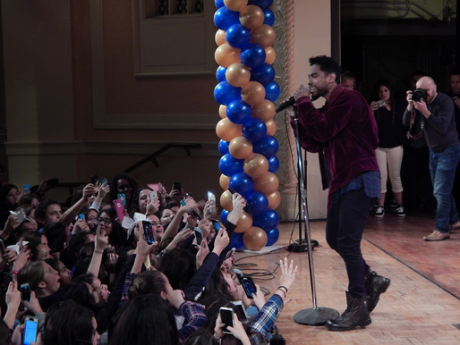 Grammy Award Winning Singer and San Pedro Club Alumnus, Miguel, Performs at Dana Middle School