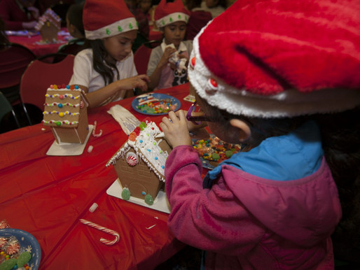 50 Boys & Girls Clubs of the LA Harbor Children Receive a Lesson in Gingerbread House Decoratin