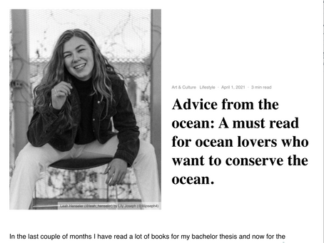 Advice from the ocean: A must read for ocean lovers who want to conserve the ocean