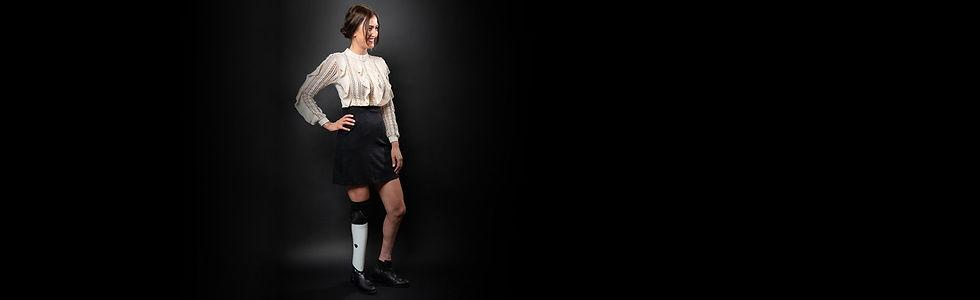 Denise Schindler mit dem individuellen Mecuris FreeStyle Prothesencover