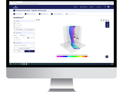 """Die einfach zu nutzende Modellierungs-Software von Mecuris für das """"digitale Gipspositv-Modell"""""""