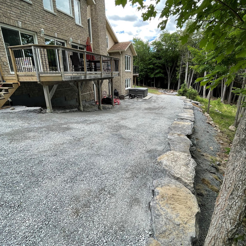 Driveway extension & retaining wall