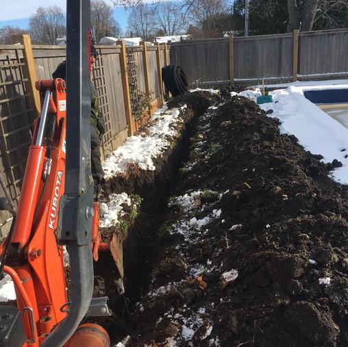 Sump Pump Line Install