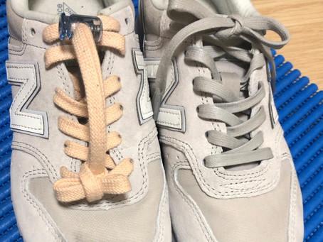 靴紐がほどけるんです、、《お客様の声》