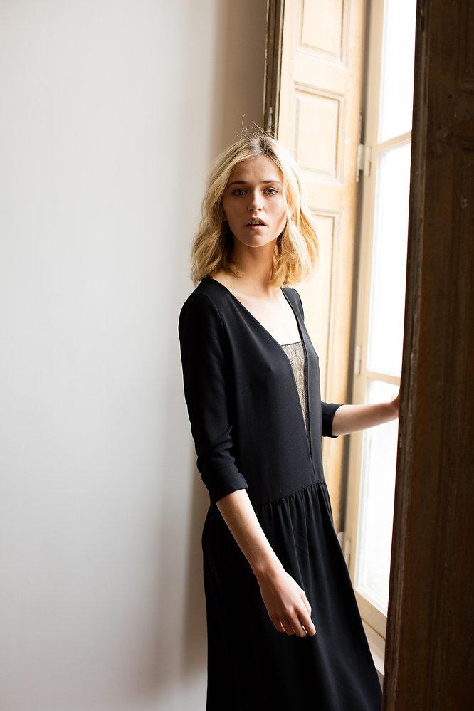 petite robe noir, dentelle