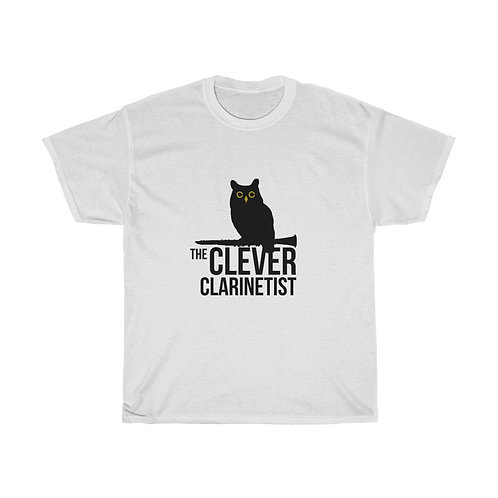 Clever Clarinetist Unisex Heavy Cotton Tee