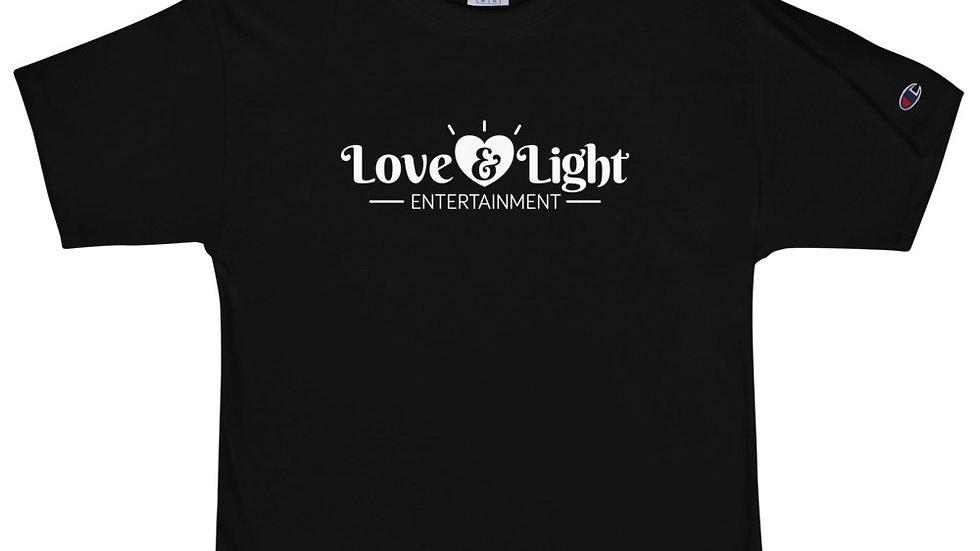 Unisex Champion T-Shirt - Love & Light Entertainment Logo