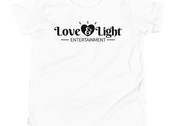 Love & Light Entertainment Logo - Youth Short Sleeve T-Shirt
