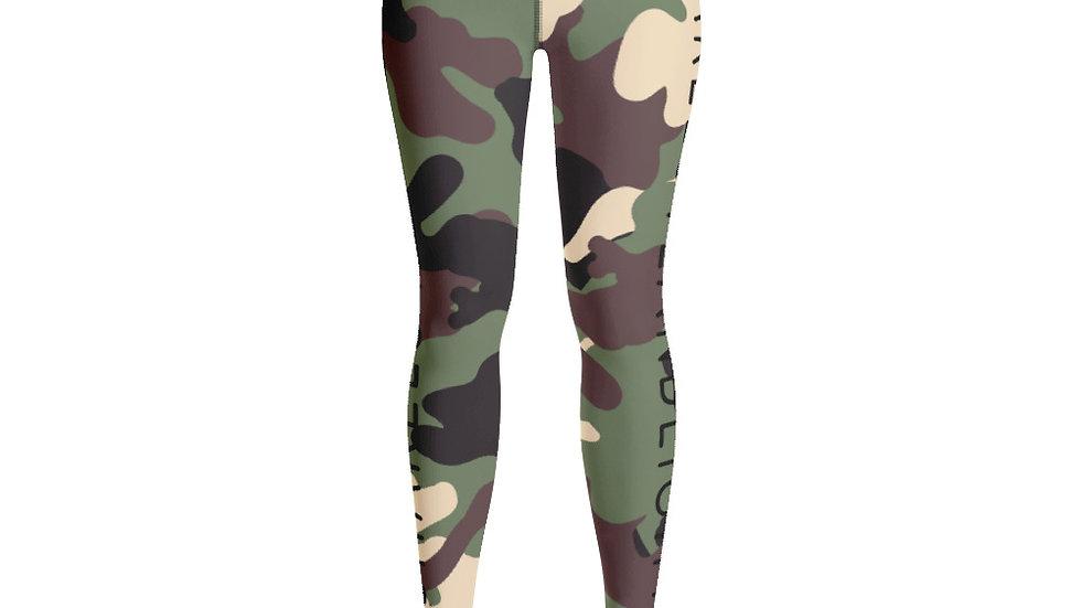 SHARELOVEANDLIGHT Green Camo Yoga Leggings