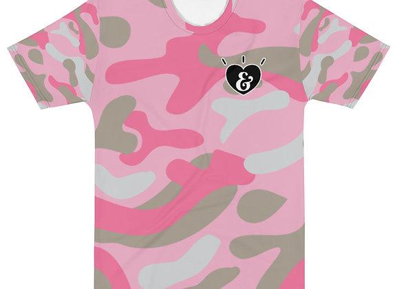 SHARELOVEANDLIGHT Pink Camo T-shirt