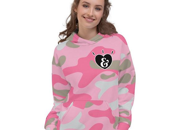 SHARELOVEANDLIGHT Pink Camo Unisex Hoodie
