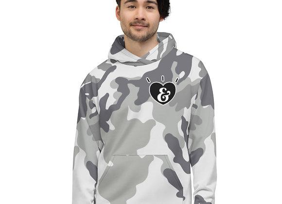 SHARELOVEANDLIGHT Grey Camo Unisex Hoodie