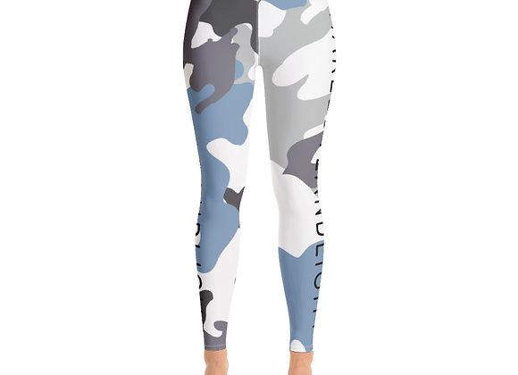 SHARELOVEANDLIGHT Blue Camo Yoga Leggings