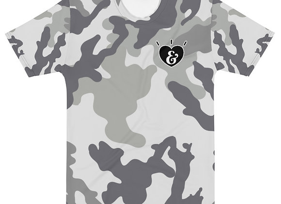 SHARELOVEANDLIGHT Grey Camo T-shirt