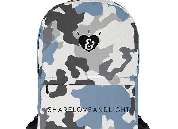 SHARELOVEANDLIGHT Blue Camo Backpack