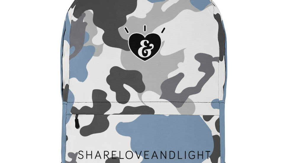 SHARELOVEANDLIGHT Blue Camo Backpack