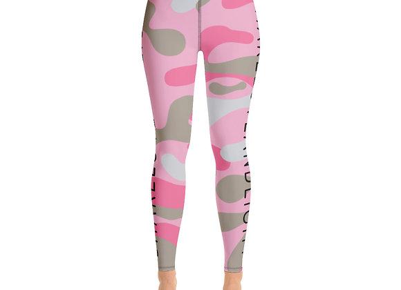 SHARELOVEANDLIGHT Pink Camo Yoga Leggings