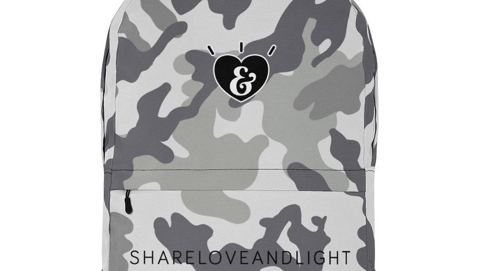 SHARELOVEANDLIGHT Grey Camo Backpack