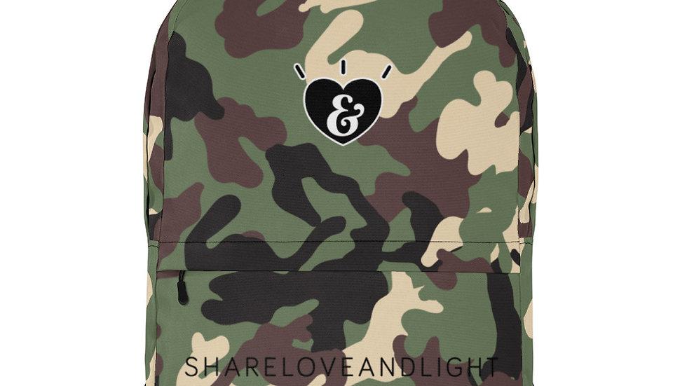 SHARELOVEANDLIGHT Green Camo Backpack