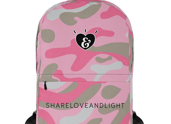 SHARELOVEANDLIGHT Pink Camo Backpack