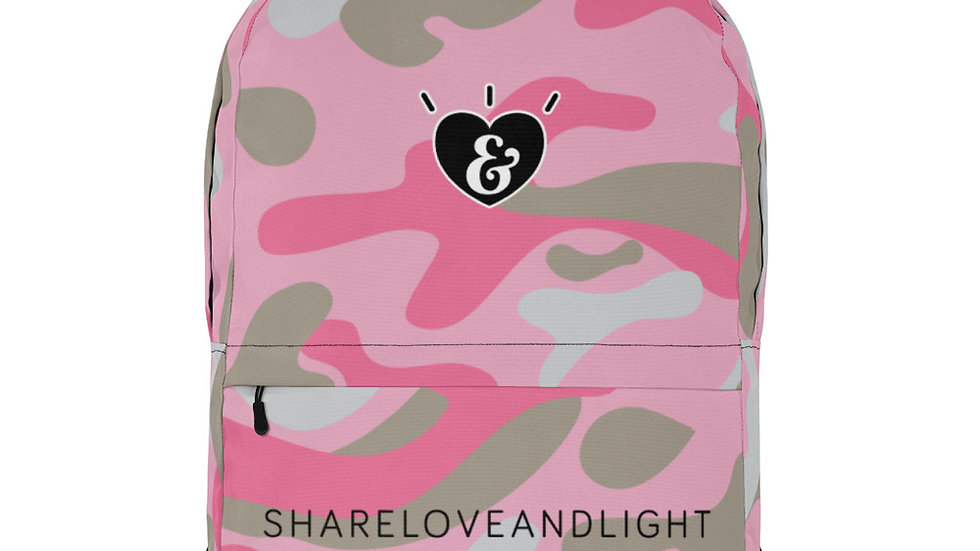 SHARELOVEANDLIGHT Pink Camo Backpack