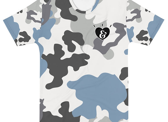 SHARELOVEANDLIGHT Blue Camo T-shirt