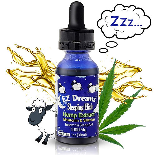 EZ DREAMZ SLEEP TINCTURE 1oz (30ml) 1000 MG HEMP EXTRACT OIL WITH CBN AND CBC