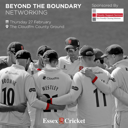 Join Priority for networking at Essex County Cricket Club