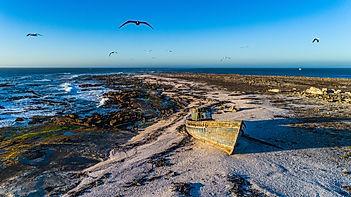 Dassen Island abandoned boat