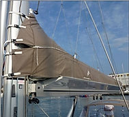 Park Avenue Boom, the sail is covered