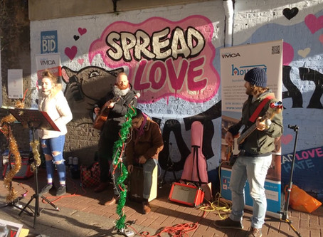 All In Music Buskers raise £233.78 on Southend High Street