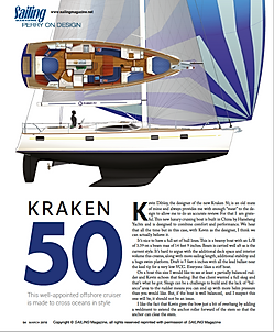 Kraken 66 - Sail Magazine June 2018 Review