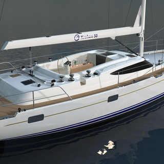 Kraken 50 ft Luxury Sailing Yacht Stern Render
