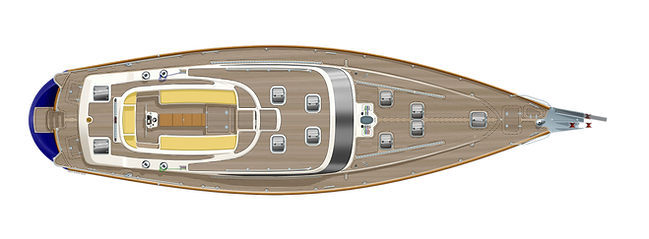 Kraken 66 ft Luxury Sailing Yacht Deck Plan