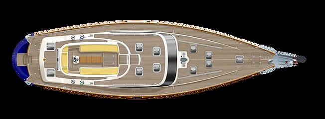 Kraken 66 ft Luxury Sailing Yacht Deck Plan