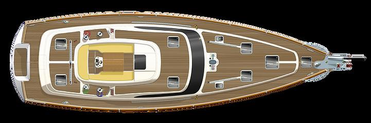 Kraken 58 ft Luxury Sailing Yacht Deck Plan