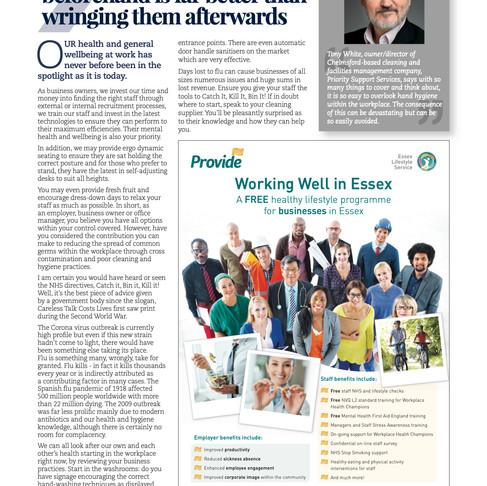 Tony talks Business Time in Essex magazine