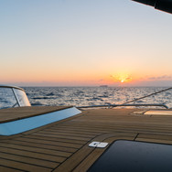 Kraken 66 ft Bluewater Sailing Yacht with Sunset in the background