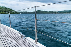 Deck and Railings on the Yacht