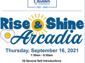 Be there in person at the September Rise & Shine!