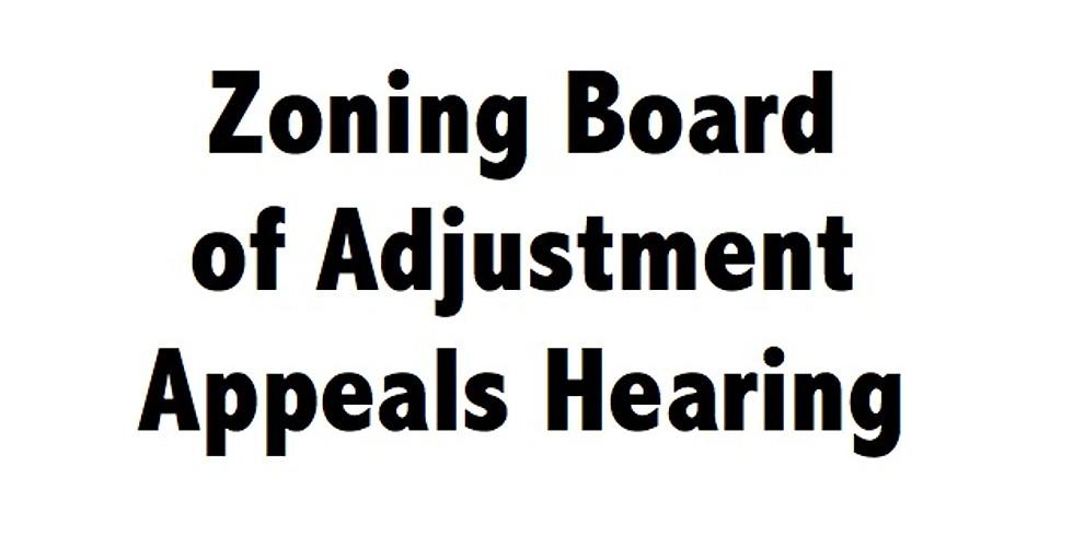 Zoning Hearing
