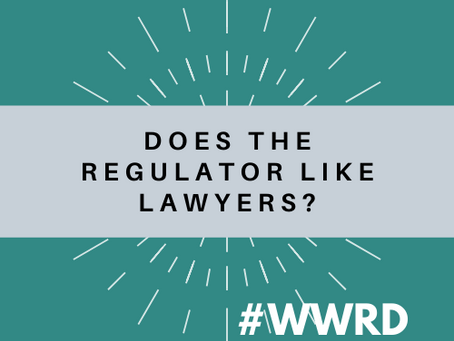#WWRD - Episode 6 - Does the Regulator Like Lawyers? Special Guest: Adrian Whelan, BBH