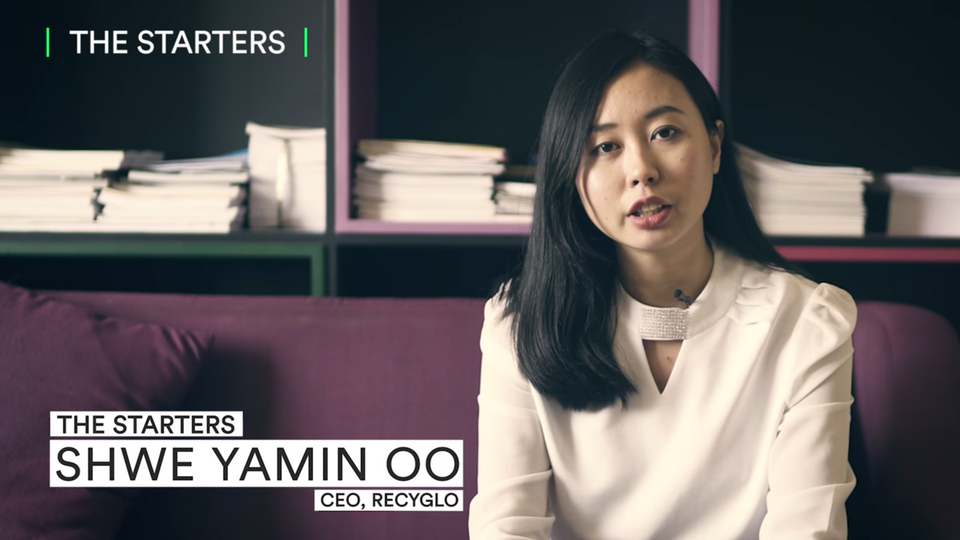 Shwe Yamin Oo, CEO and Cofounder of RecyGlo