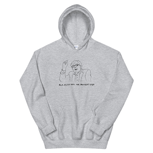 OLD JEWISH MAN FOR PRESIDENT 2020 HOODIE