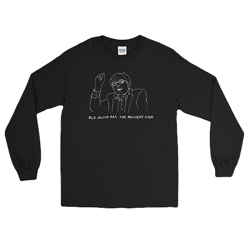 OLD JEWISH MAN FOR PRESIDENT 2020 LONG SLEEVE