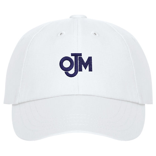OJM Ball Cap hat white
