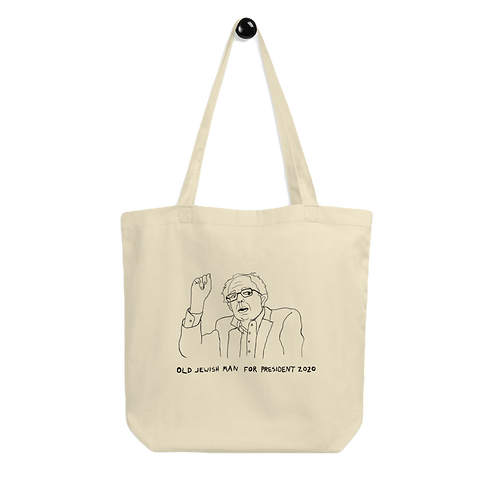 OLD JEWISH MAN FOR PRESIDENT TOTE BAG